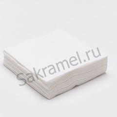 Салфетки (Спанлейс, белый, 10х10 см, 100 шт/упк, стандарт)