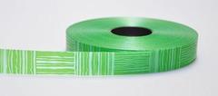 Лента пластиковая с рисунком 2см*100м темно-зеленая