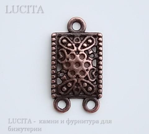 Коннектор (1-2) 23х12 мм (цвет - античная медь) ()