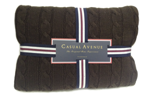 Плед 130х170 Boston от Casual Avenue шоколадный