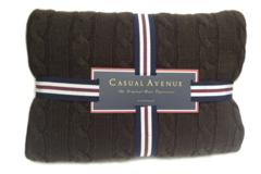 Элитный плед Boston шоколадный от Casual Avenue