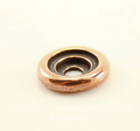 Элемент под заклепку TierraCast для кабошона 7 мм (ss 34), 10 мм (цвет-античная медь)