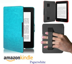 Чехол Hard Case Magnetic Cover with Hand Grip с фиксатором на руку для Amazon Kindle Paperwhite  Light Blue Светло-голубой Бирюзовый