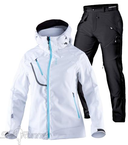 Лыжный утепленный костюм Mica Grassi White женский