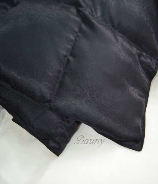 Одеяла Одеяло пуховое 200х220 Dauny Eider Caro Black Silk одеяло_dauny_eider_caro_-_silk.jpg