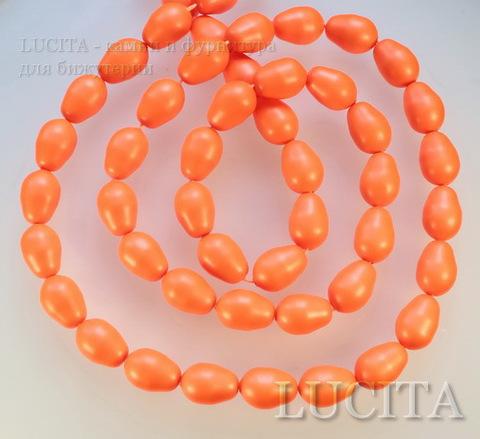 5821 Хрустальный жемчуг Сваровски Crystal Neon Orange грушевидный 11х8 мм