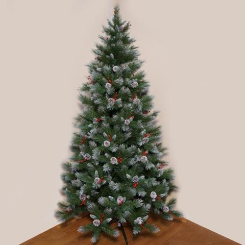 Ёлка Triumph Tree Шарлотта Шишки + Ягоды Заснеженная 185 см