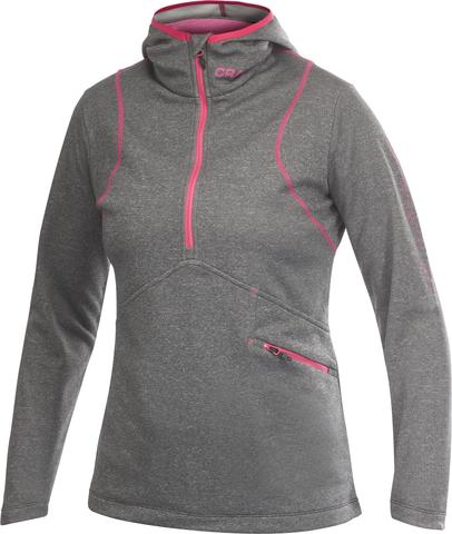 Толстовка женская Craft Active Logo Hood серая