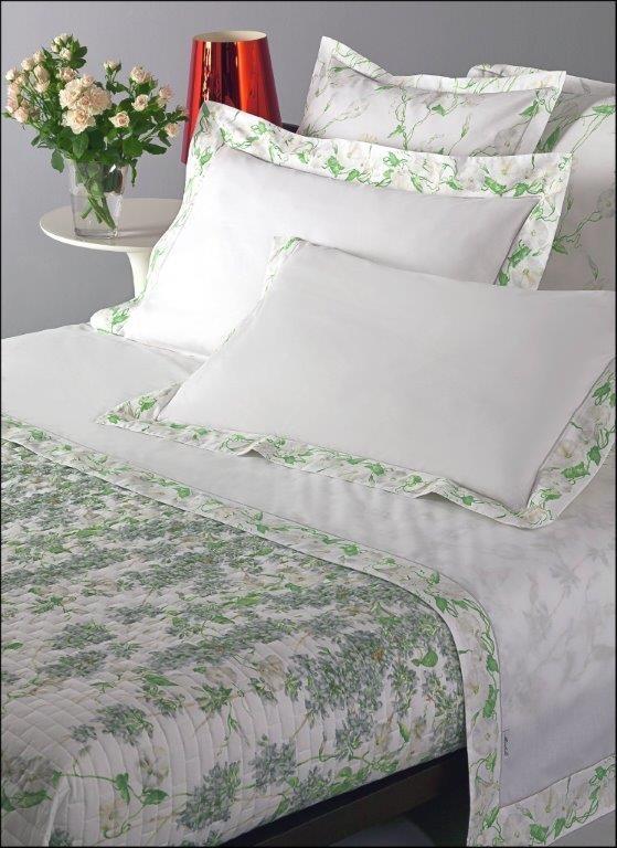Постельное белье 1.5 спальное Mirabello Campanule светло-серое