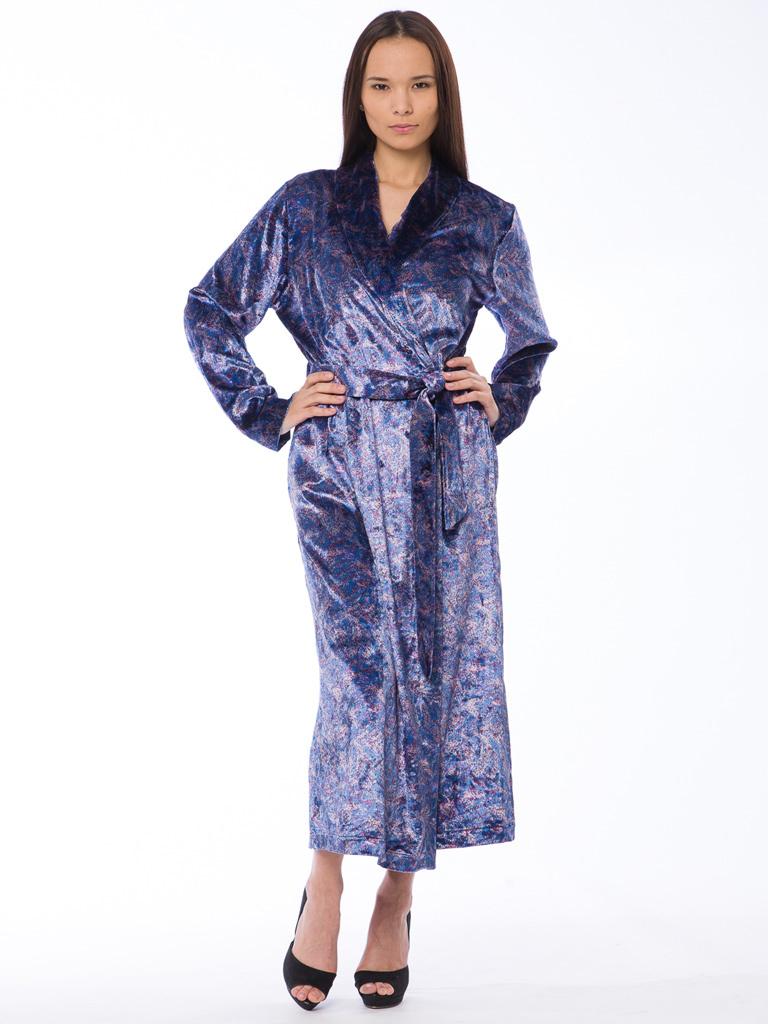 Женский велюровый халат B&B (Женские халаты)