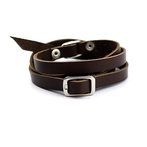 Мужской браслет из натуральной кожи TRONIN AM-106BR+