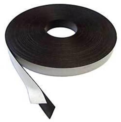 Магнитная лента 25.4 мм с клеем 3М