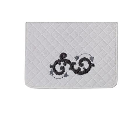 Элитный коврик для ванной Ricciolo белый с серой аппликацией от Old Florence