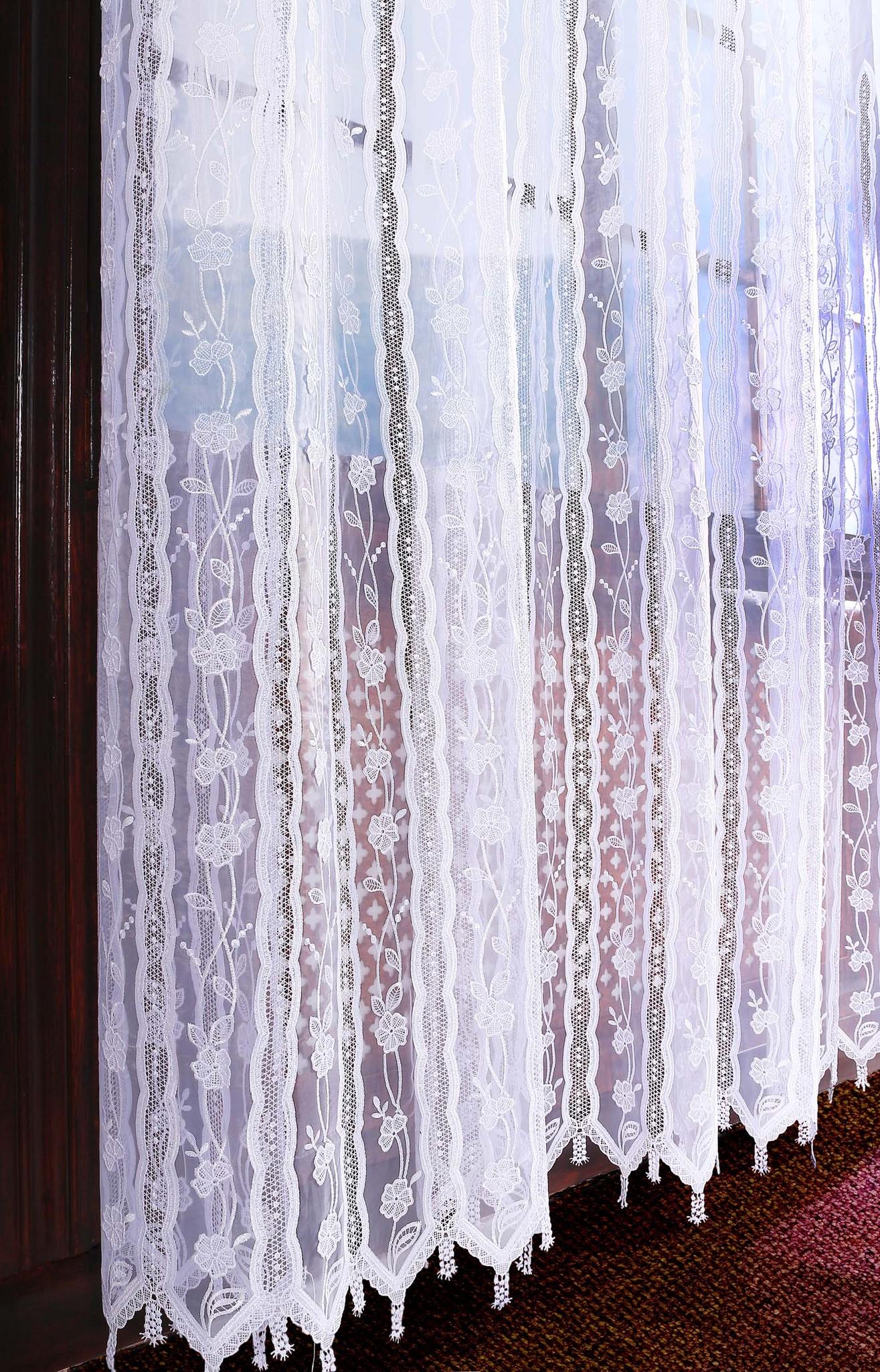 Тюль. Органза с вышивкой (белая)