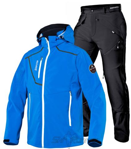 Лыжный утепленный костюм Alve Softshell Grassi Blue мужской