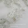 Бусина Хрусталь, крошка, цвет - прозрачный, 5-9 мм, нить 82-84 см