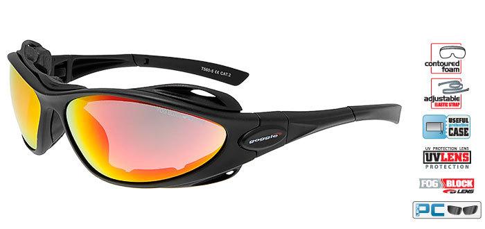 Спортивные солнцезащитные очки goggle AYURA black/red