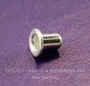 Заклепка с отверстием TierraCast 3,7х2,2 мм (цвет-серебро), 5 штук