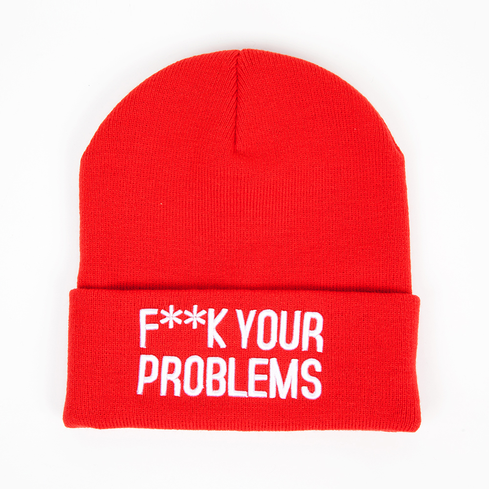 Шапка TRUESPIN F_ck Beanies RED
