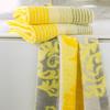 Полотенце 50x100 Cawo Noblesse 1057 Cashmere Jaquard желтое