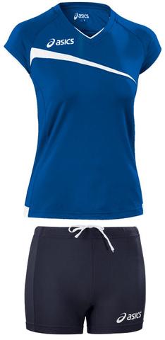 Форма волейбольная Asics Set Play Off Blue Жен