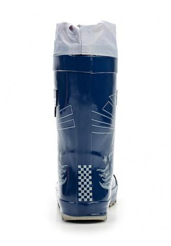 Резиновые сапоги Тачки (Cars) на шнурках для мальчиков, цвет синий. Изображение 4 из 7.