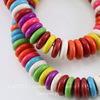 Бусина Говлит (искусств, тониров), рондель, цвет - микс, 12х3 мм, нить
