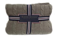 Элитный плед Boston коричневый от Casual Avenue