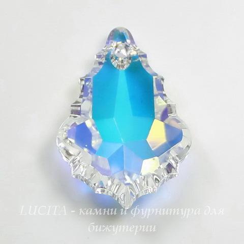 6091 Подвеска Сваровски Flat Baroque Crystal AB (28 мм)
