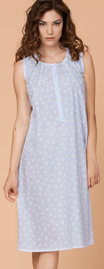 Хлопковая ночная сорочка Vilfram (Домашние платья и ночные сорочки)
