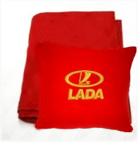 Плед в чехле с логотипом Lada