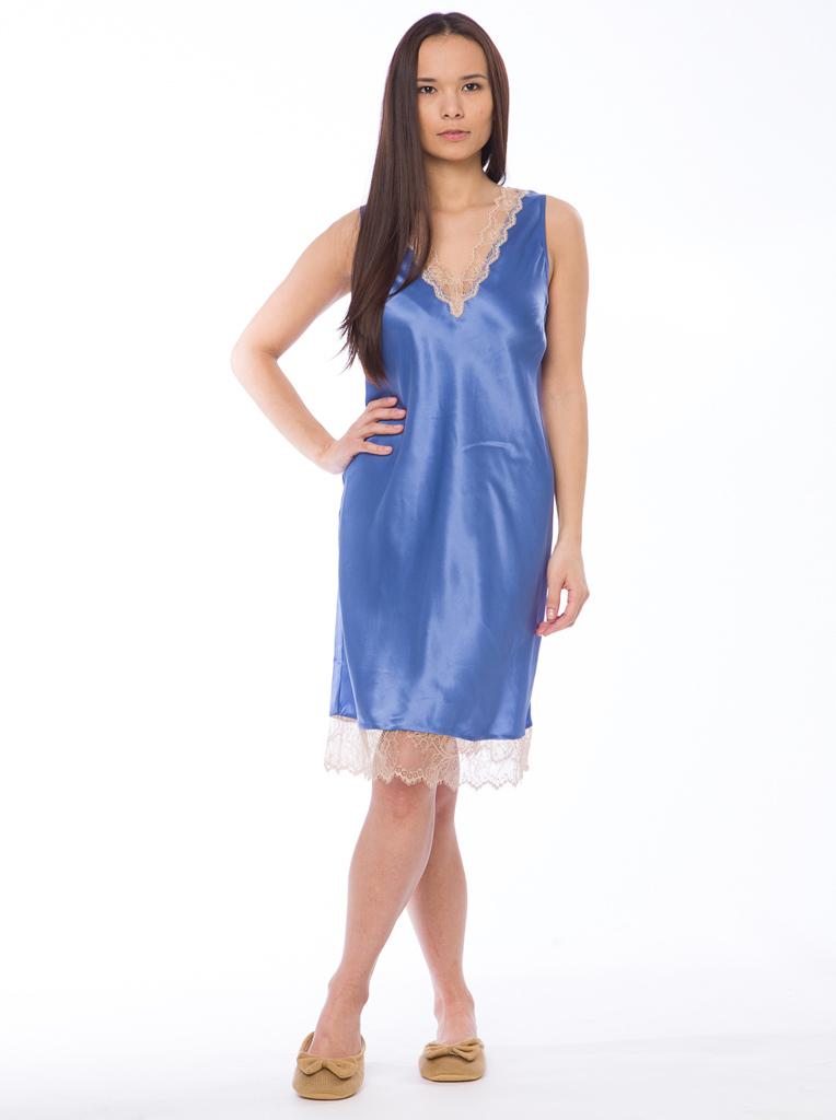 Шелковая женская сорочка TWIN-SET (Домашние платья и ночные сорочки)