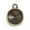 Сеттинг - основа - подвеска TierraCast для страза 12 мм (цвет-античная латунь)