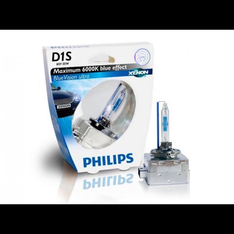 Лампа ксенон D1S (6000К) Philips BlueVision Ultra (блистер)