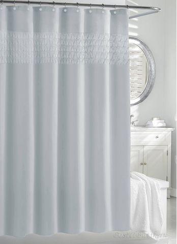 Элитная шторка для ванной Smock Pleat SPA Blue от Kassatex