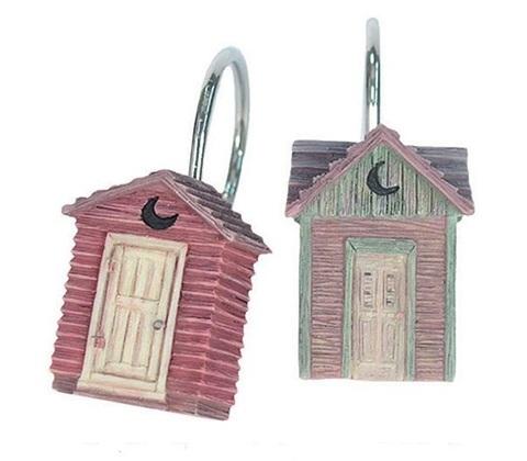 Набор из 12 крючков для шторки Outhouses от Avanti