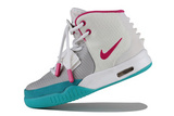 Кроссовки женские Nike Air Yeezy 2 White Blue Pink