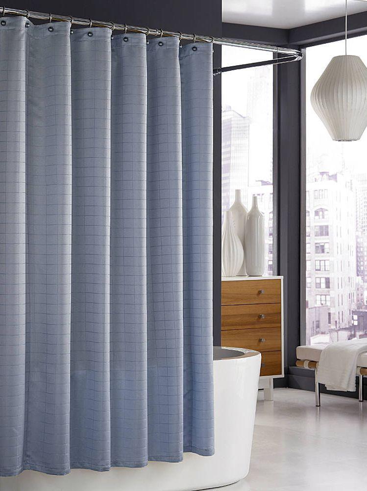 Элитная шторка для ванной Parc East Slate Blue от Kassatex