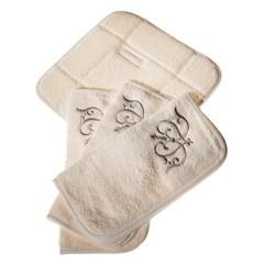 Набор полотенец 3 шт Old Florence Ванити и корзинка песочный