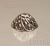 "Шапочка для бусины ""Завиток"" (цвет - античное серебро) 11х6 мм, 10 штук"