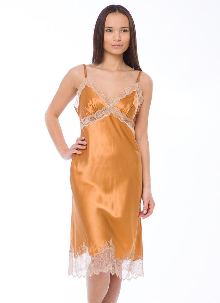 Ночная сорочка из шелка TWIN-SET (Домашние платья и ночные сорочки)