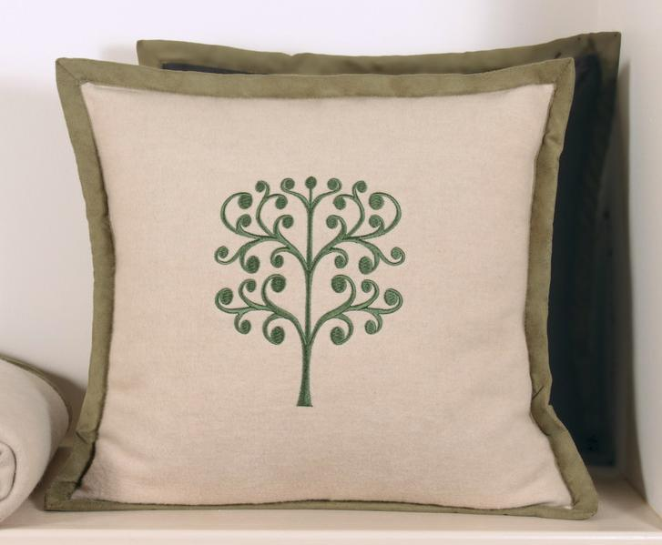 Наволочка декоративная 42х42 Luxberry Tree бежевая