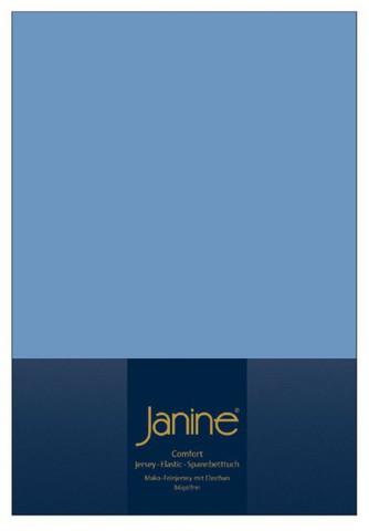 Элитная простыня на резинке Elastic-Jersey 5002 джинсовая от Janine