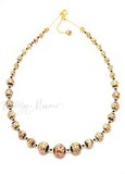 Ожерелье Арлекино золотистое длинное (нет в наличии)