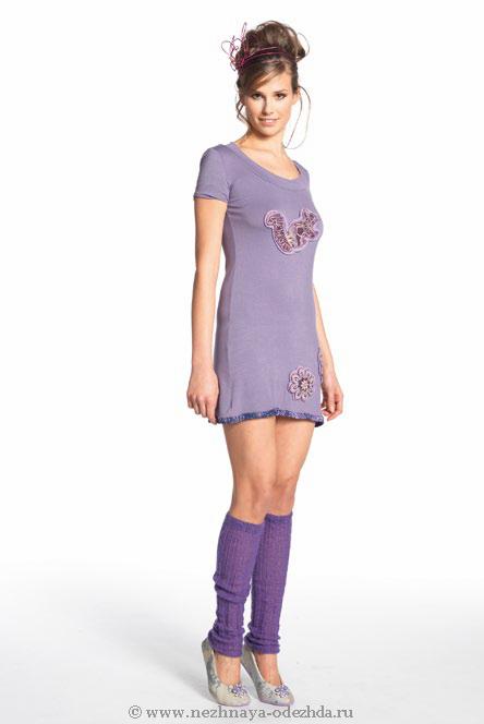 Короткое домашнее платье Save The Queen