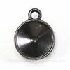 Сеттинг - основа - подвеска TierraCast для страза 12 мм (цвет-черный никель)