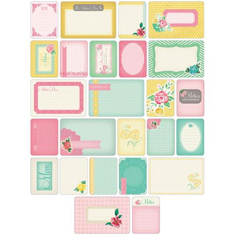 Набор карточек Project Life- MOM 40 шт