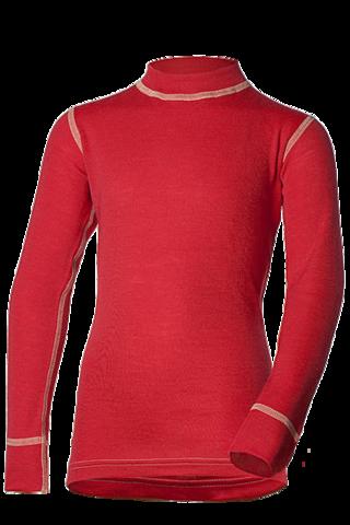 Футболка Norveg Soft  детская с длинным рукавом красная