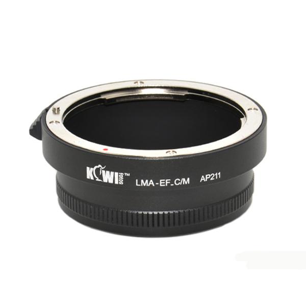 Переходное кольцо Kiwifotos LMA-EF C/M можно применять к камерам с байонетом Canon EF-M, объективы с байонетом Canon EF