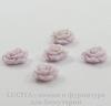 """Кабошон акриловый """"Роза"""", цвет - лавандовый, 10 мм, 5 штук"""